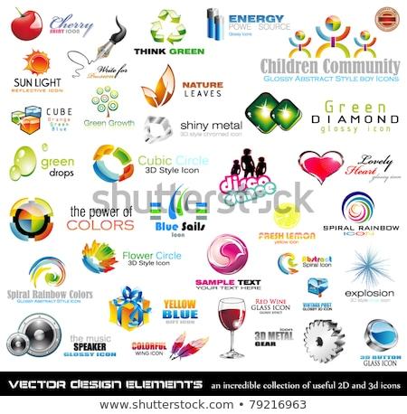 Gear 3d Glossy Vector Icon Design Stock photo © rizwanali3d