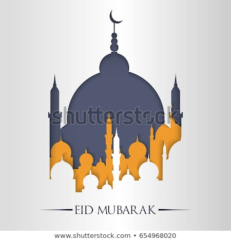 eid mubarak concept design with mosque and moon Stock photo © SArts