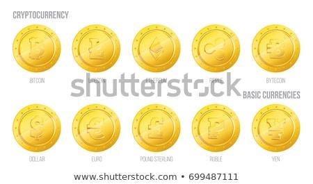 Bitcoin dollar gouden munten symbool Stockfoto © ikopylov