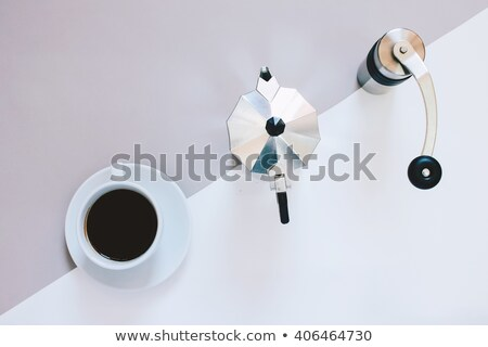 Coffee grinder in flat style Stock photo © biv