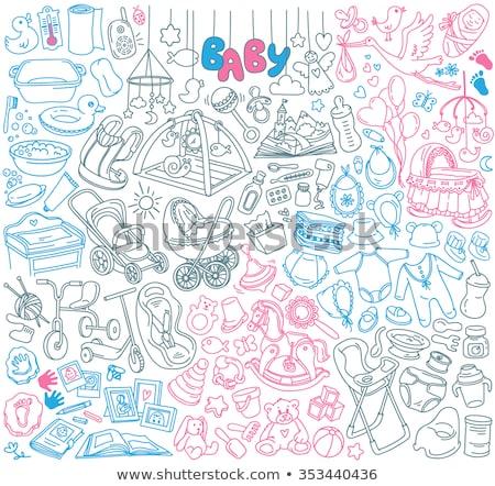 Feeding bottle hand drawn outline doodle icon. Stock photo © RAStudio