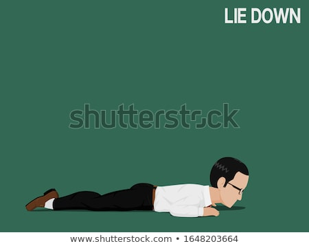 man lies hurts stomach. Isolate on white background Stock photo © studiostoks