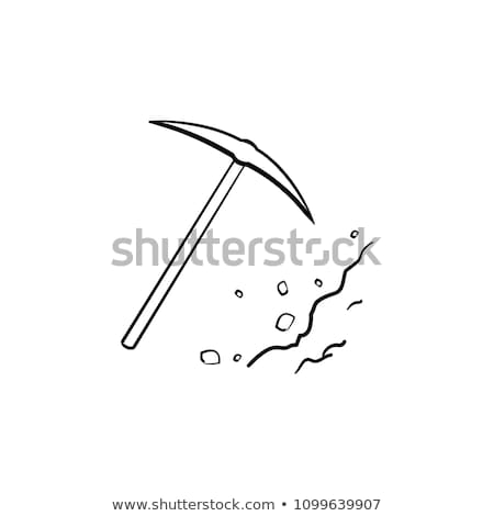 Pickaxe chisel hand drawn outline doodle icon. Stock photo © RAStudio