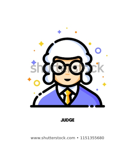 Male user avatar of judge  Icon of cute boy face vector