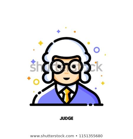 Mannelijke gebruiker avatar rechter icon cute Stockfoto © ussr