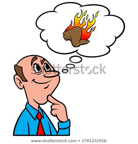 Cartoon Buffalo Thinking Stock photo © cthoman