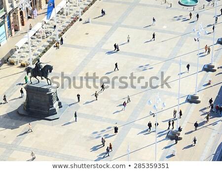 ザグレブ · 歴史的 · 町 · 建物 · 市 - ストックフォト © xbrchx