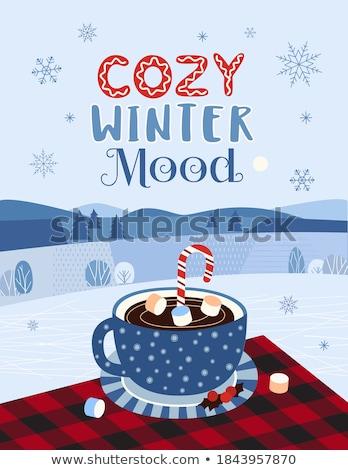 Beverage in mug and chocolate Stock photo © dash