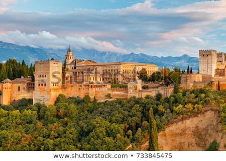 ストックフォト: 景観 · スペイン · 表示 · アルハンブラ宮殿 · 丘 · アラブ