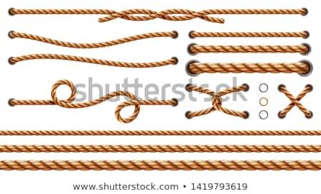 cuerda · aislado · blanco - foto stock © stocksnapper