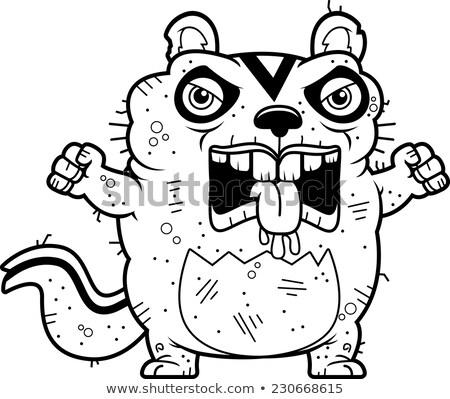 Cartoon Angry Ugly Chipmunk Stock photo © cthoman