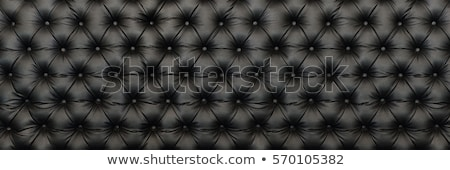 luxury black buttoned leather texture stock photo © arsgera