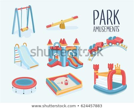 Ayarlamak oyun alanı slayt örnek arka plan Stok fotoğraf © bluering