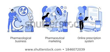 Ilaç ayarlamak tıp hapları Stok fotoğraf © robuart