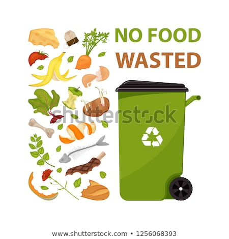 Organic Waste Poster Text Vector Illustration Stock photo © robuart