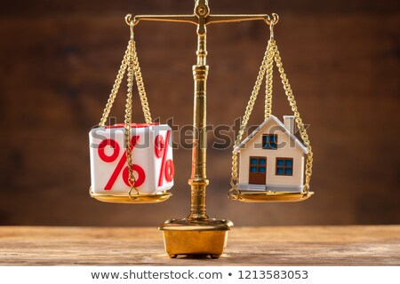 Giustizia scala equilibrio percentuale casa Foto d'archivio © AndreyPopov