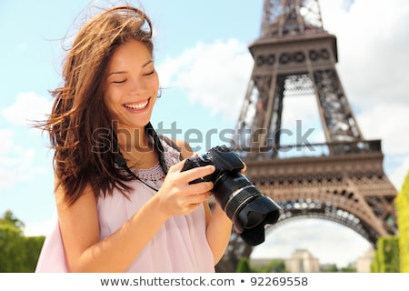 小さな · カメラマン · 旅行 · 海岸 · 空 · 風景 - ストックフォト © artfotodima