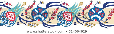 szett · iráni · dekoratív · kerámia · csempék · kilátás - stock fotó © boggy