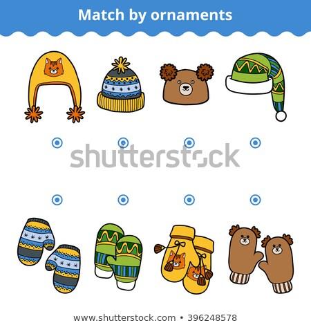 pattern educational game with Christmas characters Stock photo © izakowski
