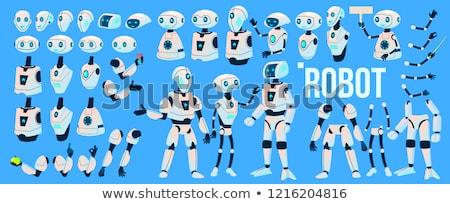 digitális · vektor · gép · automatizálás · mesterséges · intelligencia · robotok - stock fotó © pikepicture