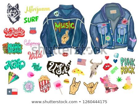 Punk poder jeans jaqueta conjunto Foto stock © robuart