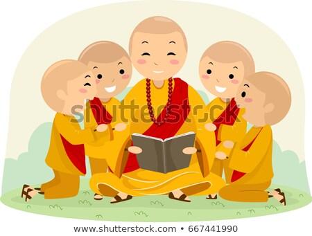 子供 男の子 僧侶 図書 実例 男 ストックフォト © lenm