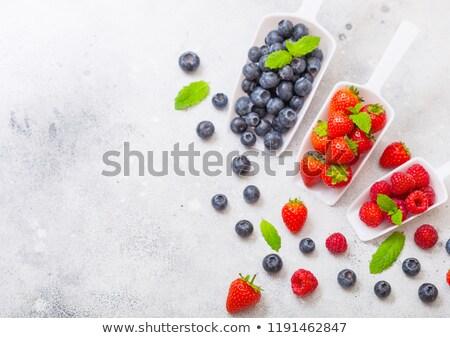Vers ruw organisch bessen witte schep Stockfoto © DenisMArt