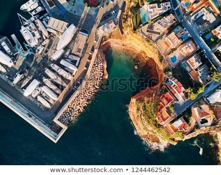 Schwimmen Port Spanien Luftbild unmittelbar über Stock foto © amok