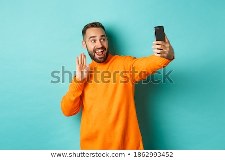 Stock photo: Happy Man Waving Hand