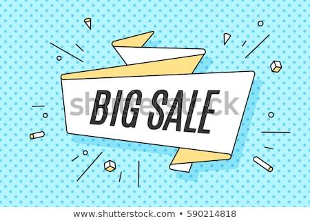 Verkauf Zeichen Markt Laden Vektor Kunst Stock foto © vector1st