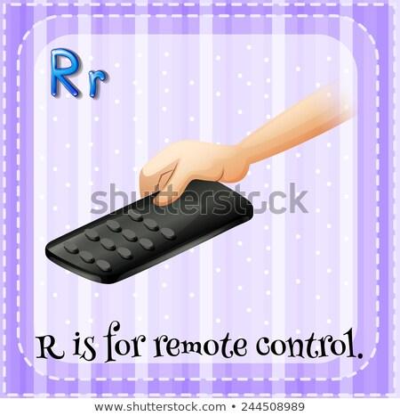 A letter R for remote control Stock photo © colematt