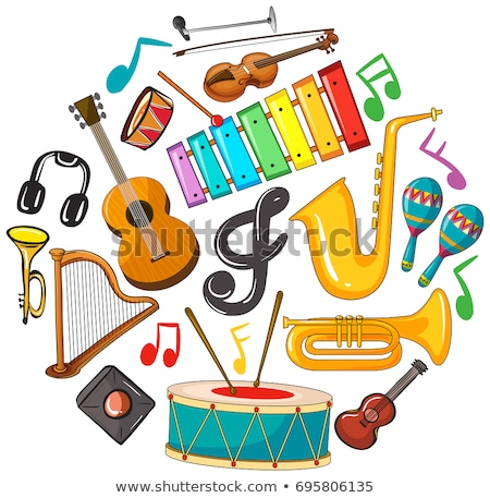 музыки отмечает иллюстрация музыку белый рисунок пути Сток-фото © colematt