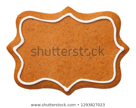 Gingerbread Label Cookie Isolated on White Background Stock photo © Bozena_Fulawka