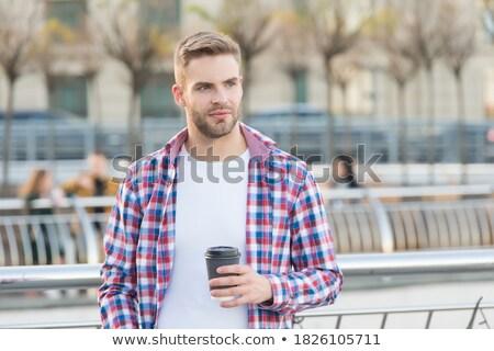 бизнесмен · улице · кофе · бизнеса · служба - Сток-фото © deandrobot