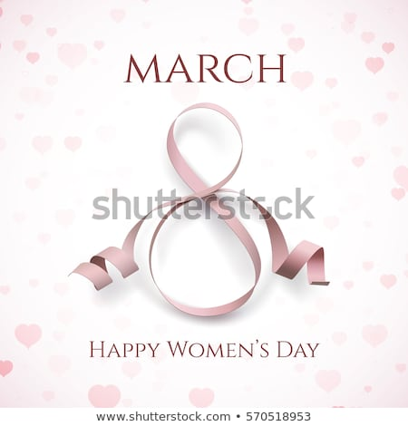 8 March Womens Day with Hearts on Background Stock photo © robuart