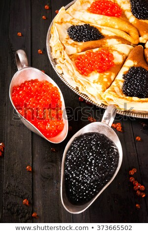 Red caviar and glass of vodka. Russian national food.  Stock photo © MaryValery