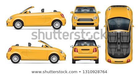 Small yellow convertible car vector mockup Stock photo © YuriSchmidt