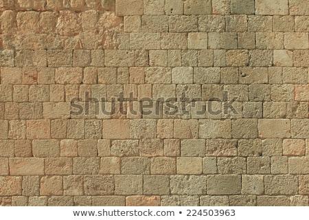 Stenen muur piramide muur egyptische achtergrond Stockfoto © Givaga