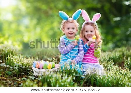 Paskalya · sınıf · okul · öncesi · paskalya · yumurtası · çiçek · mutlu - stok fotoğraf © anna_om