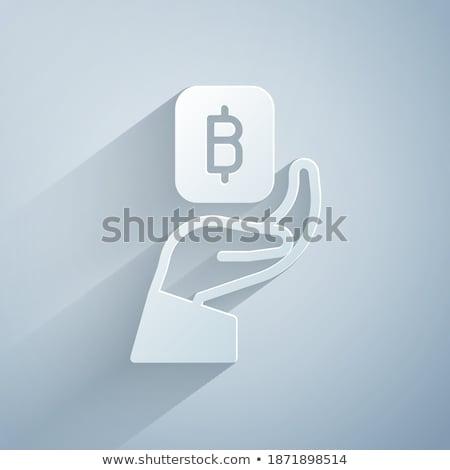 Bitcoin valuta oameni lucrări vector hârtie Imagine de stoc © robuart