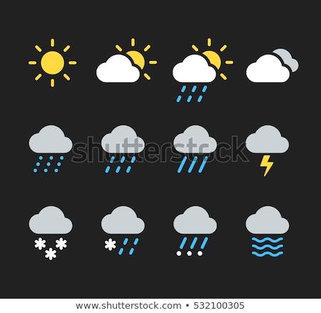 weather icon sun and cloud stock photo © smoki