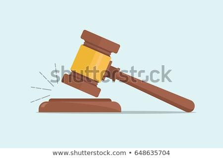 juge · marteau · icône · gris · succès · avocat - photo stock © -talex-