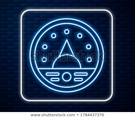 Ikon szín terv monitor erő elektromosság Stock fotó © angelp