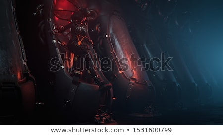 Young girl wearing exoskeleton Stock photo © jossdiim