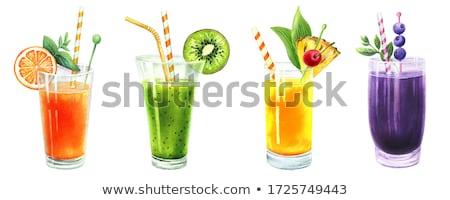 friss · szelet · ananász · fából · készült · gyümölcs · zöld - stock fotó © conceptcafe