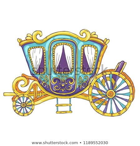 vector line Cinderella carriage stock photo © VetraKori