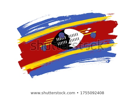 Swaziland flag, vector illustration on a white background Stock photo © butenkow