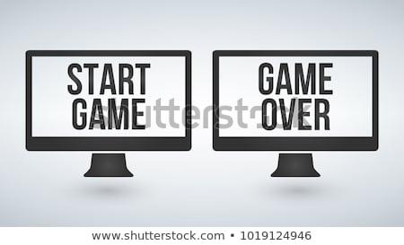 isolé · ordinateur · tv · commencer · jeu · écran - photo stock © kyryloff