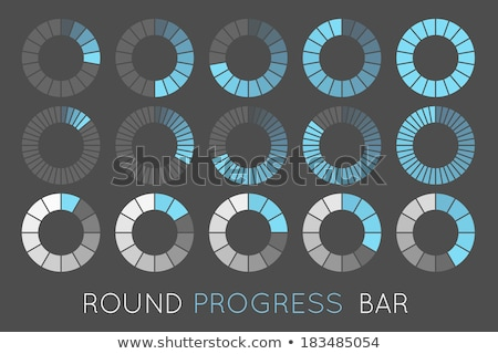 Loading status icons, round progress bar. vector Stock photo © Andrei_