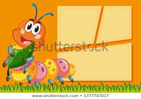Cute Caterpillar сведению иллюстрация текстуры фон Сток-фото © bluering